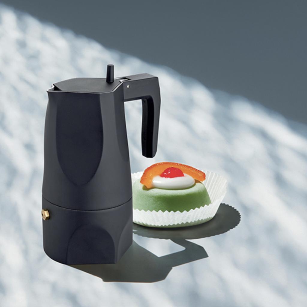 ALESSI AI - ESPRESSO COFFEE MAKER 3 CUPS - OSSIDIANA - BLACK