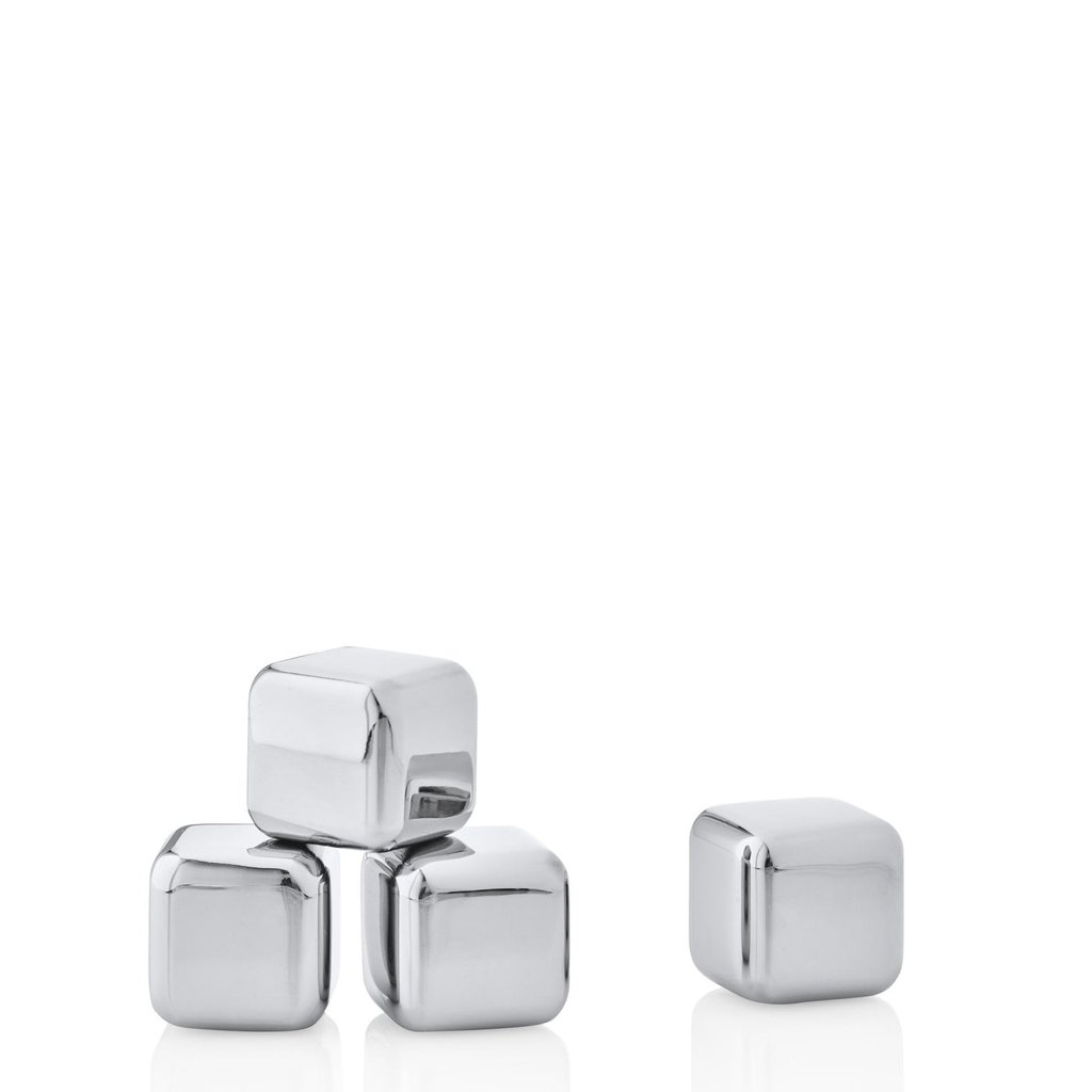 BLOMUS BS - STAINLESS STEEL ICE CUBES - SET OF 4