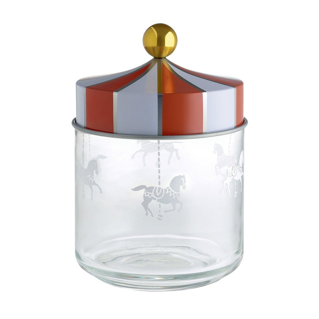 ALESSI AI - CIRCUS 100 JAR IN SILK-SCREEN GLASS