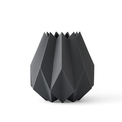 MENU FOLDED VASE - TALL - CARBON