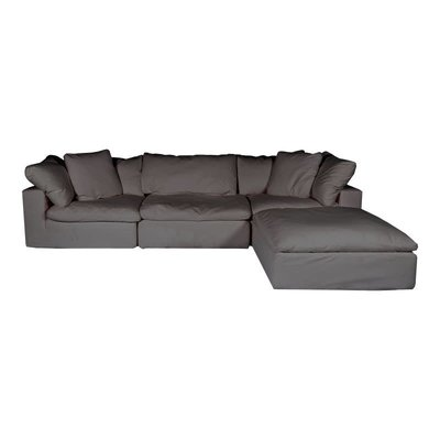 CLAY LOUNGE SECTIONAL  LIGHT GREY