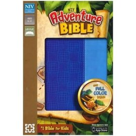 NIV Adventure Bible, Blue Leathersoft