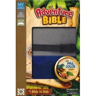 NIV Adventure Bible, Gray/Blue Leathersoft