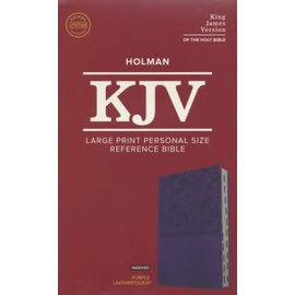KJV Large Print Reference Bible, Purple Indexed LeatherTouch 2019