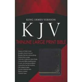 KJV Large Print Bible, Brown LuxLeather, Indexed