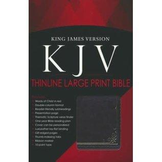 KJV Large Print Bible, Brown LuxLeather, Indexed