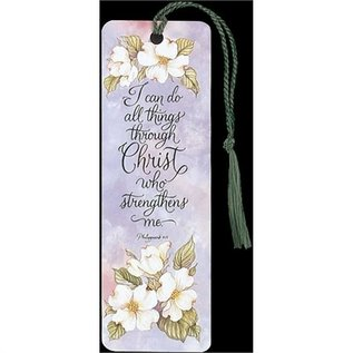 Bookmark - I Can Do All Things (flowers), Tassel