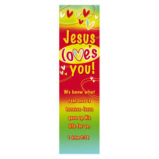 Bookmark - Jesus loves you, 10 Pack