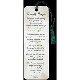 Bookmark - Serenity Prayer, Tassel