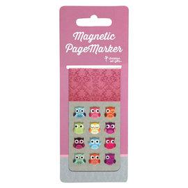 Magnetic Bookmark - Owls, Large