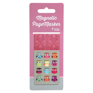 Magnetic Bookmark - Owls, Large