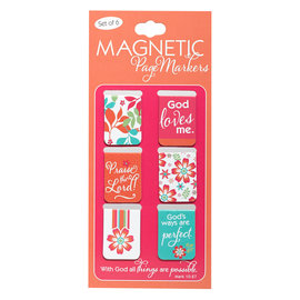 Magnetic Bookmarks - With God, Small