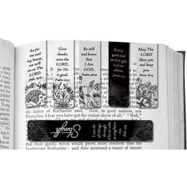 Magnetic Bookmark - Black and White, 6 Pack