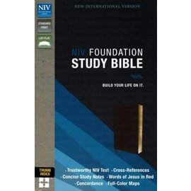NIV Foundation Study Bible, Brown Indexed