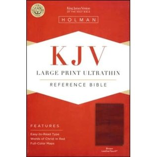 KJV Large Print Reference Bible, Brown LeatherTouch