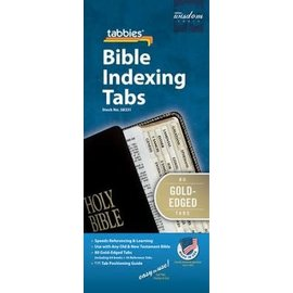 Bible Indexing Tabs - Gold