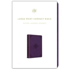 ESV Large Print Compact Bible, Lavender