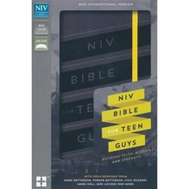 NIV Bible for Teen Guys, Charcoal Leathersoft