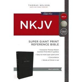 NKJV Super Giant Print Reference Bible, Black Leatherflex