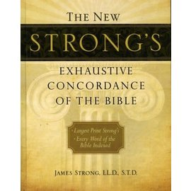 Large Print Strong's Exhaustive Concordance, Hardcover