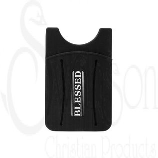 Cell Phone Card Wallet w/Finger Grip - Blessed