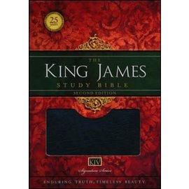 KJV King James Study Bible, Black Bonded Leather