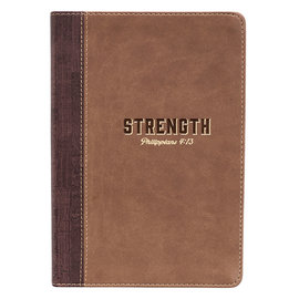 Journal - Strength, Brown LuxLeather