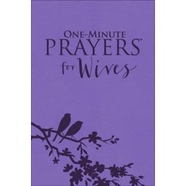 One Minute Prayers for Wives, Purple LuxLeather (Hope Lyda)