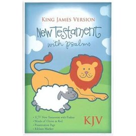 KJV Baby New Testament w/Psalms, White Imitation Leather