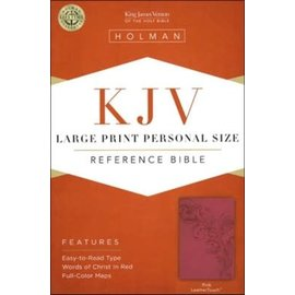 KJV Large Print Reference Bible, Pink LeatherTouch