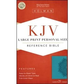 KJV Large Print Reference Bible, Teal LeatherTouch, Indexed