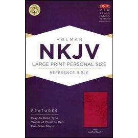 NKJV Large Print Reference Bible, Pink Imitation Leather
