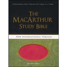 NIV MacArthur Study Bible, Pink Leathersoft