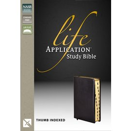NASB Life Application Study Bible, Black Bonded Leather, Indexed