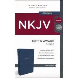 NKJV Gift & Award Bible, Blue Imitation Leather