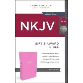 NKJV Gift & Award Bible, Pink Imitation Leather