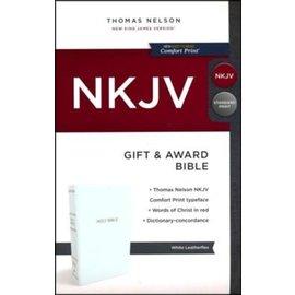 NKJV Gift & Award Bible, White Imitation Leather