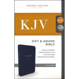 KJV Gift & Award Bible, Navy Imitation Leather