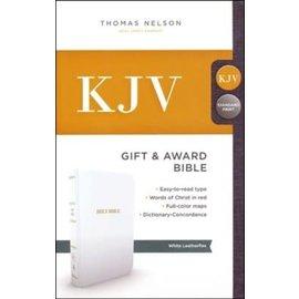 KJV Gift & Award Bible, White Imitation Leather