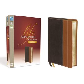 NIV Large Print Life Application Study Bible, Chocolate/Tan LeatherTouch