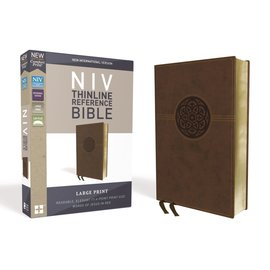 NIV Large Print Reference Bible, Brown Leathersoft