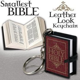 Bible Keychain, Burgundy