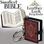 Bible Keychain, Burgundy