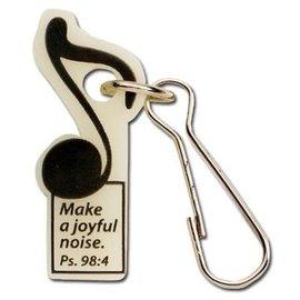 Zipper Pull - Make a Joyful Noise, Glow in the Dark