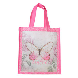 Tote Bag - Butterfly, Pink