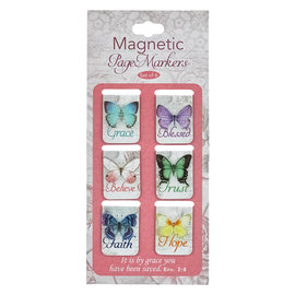 Magnetic Bookmarks - Butterfly Blessings, Small