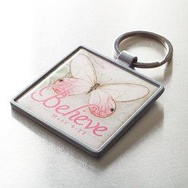 Keychain - Believe Butterfly