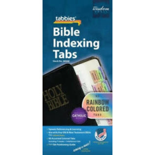 Bible Indexing Tabs - Rainbow, Catholic