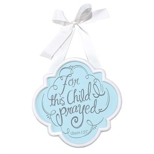 Door Sign - For this Child, Blue