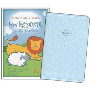 KJV Baby New Testament w/Psalms, Blue Imitation Leather